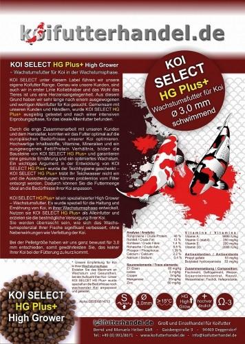 KOI SELECT HG Plus+ High Grower 3 mm